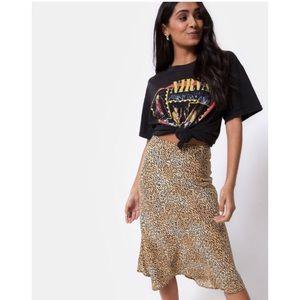 • H P • Motel Rocks Tauri Midi Skirt Mini Tiger